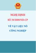 Nghị định số 39/2009/NĐ-CP Về vật liệu nổ công nghiệp