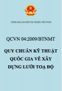 QCVN 04:2009/BTNMT – Quy chuẩn kỹ thuật Quốc gia về xây dựng lưới toạ độ