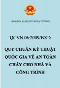 QCVN 06:2009/BXD – Quy chuẩn kỹ thuật quốc gia về an toàn cháy cho nhà và công trình