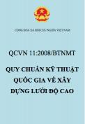 QCVN 11:2008/BTNMT – Quy chuẩn kỹ thuật Quốc gia về xây dựng lưới độ cao