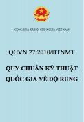 QCVN 27:2010/BTNMT – Quy chuẩn kỹ thuật quốc gia về độ rung
