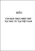 Quyết định số 1088/2006/QĐ-BKH về việc ban hành các mẫu văn bản thực hiện thủ tục đầu tư tại Việt Nam