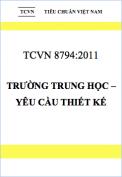 TCVN 8794:2011 Trường trung học – Yêu cầu thiết kế