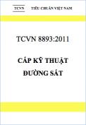 TCVN 8893:2011 Cấp kỹ thuật đường sắt