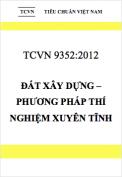 TCVN 9352:2012 Đất xây dựng – Phương pháp thí nghiệm xuyên tĩnh