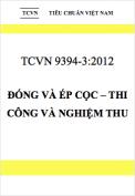 TCVN 9394:2012 Đóng và ép cọc – Thi công và nghiệm thu