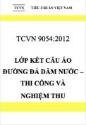 TCVN 9504:2012 Lớp kết cấu áo đường đá dăm nước – Thi công và nghiệm thu