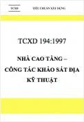 TCXD 194:1997 Nhà cao tầng – Công tác khảo sát địa kỹ thuật
