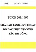 TCXD 203:1997 Nhà cao tầng – Kỹ thuật đo đạc phục vụ công tác thi công