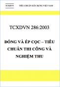 TCXDVN-286-2003-Dong va ep coc-Tieu chuan thi cong va nghiem thu
