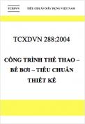 TCXDVN 288:2004 Công trình thể thao – Bể bơi – Tiêu chuẩn thiết kế