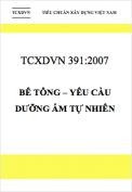 TCXDVN 391:2007 Bê tông – Yêu cầu dưỡng ẩm tự nhiên