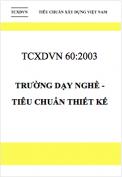 TCXDVN 60:2003 Trường dạy nghề – Tiêu chuẩn thiết kế