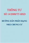 Thông tư số 14/2008/TT-BXD Hướng dẫn phân hạng nhà chung cư