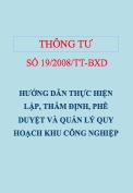 Thông tư số 19/2008/TT-BXD Hướng dẫn lập, thẩm định quy hoạch khu công nghiệp