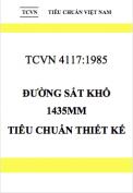 TCVN 4117-1985 Đường sắt khổ 1435mm – Tiêu chuẩn thiết kế