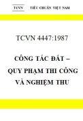Tiêu chuẩn Việt Nam 4447-1987 về Công tác đất – Quy phạm thi công và nghiệm thu