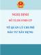 Nghị định 32/2015/NĐ-CP Về quản lý chi phí đầu tư xây dựng
