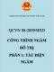 QCVN 08:2009/BXD Công trình ngầm đô thị - Phần 1: Tàu điện ngầm