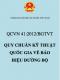 Quy chuẩn Việt Nam số 41/2012/BGTVT Quy chuẩn kỹ thuật quốc gia về báo hiệu đường bộ