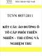 TCVN 8857:2011 Lớp kết cấu áo đường ô tô bằng cấp phối thiên nhiên – Vật liệu, thi công và nghiệm thu