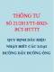 TTLT 21/2013/TTLT-BXD-BCT-BTTTT Quy định về dấu hiệu nhận biết các loại đường dây, cáp và đường ống được lắp đặt vào công trình hạ tầng kỹ thuật sử dụng chung