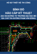 Bình đồ hào kỹ thuật (Công trình Thiết kế thi công tuyến đường từ trường đại học Mỏ địa chất ra đường Phạm Văn Đồng)