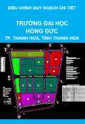 Điều chỉnh quy hoạch chi tiết xây dựng tỷ lệ 1/500 Trường đại học Hồng Đức, thành phố Thanh Hoá, tỉnh Thanh Hoá