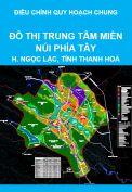 Điều chỉnh quy hoạch chung đô thị trung tâm miền núi phía Tây tỉnh Thanh Hoá đến năm 2025, tầm nhìn đến năm 2030