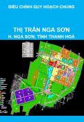 Điều chỉnh quy hoạch chung xây dựng và mở rộng thị trấn Nga Sơn, huyện Nga Sơn, tỉnh Thanh Hoá