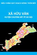 Điều chỉnh quy hoạch nông thôn mới xã Hữu Văn, huyện Chương Mỹ, thành phố Hà Nội giai đoạn 2011-2020