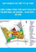 Điều chỉnh tổng thể QHCT Khu đô thị mới Bắc An Khánh – Hoài Đức – Hà Nội
