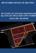 Dự án đầu tư xây dựng kinh doanh hạ tầng kỹ thuật khu công nghiệp - Hạng mục: Kè Kênh