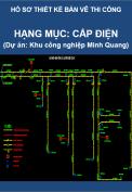 Hạng mục Cấp điện (Dự án Thi công Khu công nghiệp Minh Quang)