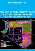 Quy hoạch chi tiết tỷ lệ 1/500 Khu nhà ở, công viên cây xanh thuộc Khu đô thị Nam thành phố Thanh Hoá, tỉnh Thanh Hoá