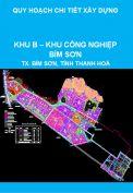 Quy hoạch chi tiết xây dựng Khu B – Khu công nghiệp Bỉm Sơn, thị xã Bỉm Sơn, tỉnh Thanh Hoá