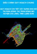 Quy hoạch chi tiết xây dựng khu đô thị phía Đông thị trấn Đồng Mỏ huyện Chi Lăng, tỉnh Lạng Sơn, tỷ lệ 1/500