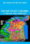 Quy hoạch chi tiết xây dựng khu đô thị số 3 Hải Bình, huyện Tĩnh Gia, tỉnh Thanh Hoá
