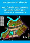 Quy hoạch chi tiết xây dựng tỷ lệ 1/500 Khu ở phía Bắc đường Nguyễn Công Trứ, Khu đô thị Đông Sơn, thành phố Thanh Hoá, tỉnh Thanh Hoá