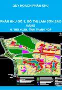 Quy hoạch phân khu khu dân cư đô thị - phân khu số 3, đô thị Lam Sơn Sao Vàng, huyện Thọ Xuân, tỉnh Thanh Hoá