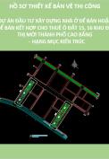 Thiết kế bản vẽ thi công dự án đầu tư xây dựng nhà ở để bán hoặc để bán kết hợp cho thuê ô đất 15,16 khu đô thị mới thành phố Cao Bằng hạng mục kiến trúc