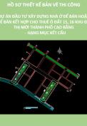 Thiết kế bản vẽ thi công dự án đầu tư xây dựng nhà ở để bán hoặc để bán kết hợp cho thuê ô đất 15,16 khu đô thị mới thành phố Cao Bằng hạng mục kết cấu
