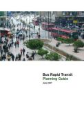 Bus Rapid Transit Planning Guide