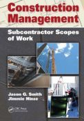 Construction management - subcontractor scopes of work