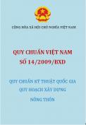 Quy chuẩn Việt Nam số 14/2009/BXD Quy chuẩn kỹ thuật quốc gia quy hoạch xây dựng nông thôn