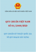 Quy chuẩn xây dựng Việt Nam số 01/2008/BXD Quy hoạch xây dựng