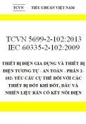 TCVN 5699-2-102:2013 IEC 60335-2-102:2009 thiết bị điện gia dụng và thiết bị điện tương tự - an toàn - phần 2-102: yêu cầu cụ thể đối với các thiết bị đốt khí đốt, dầu và nhiên liệu rắn
