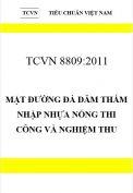 TCVN 8809:2011 Mặt đường đá dăm thấm nhập nhựa nóng thi công và nghiệm thu