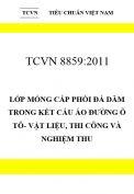 TCVN 8859:2011 Lớp móng cấp phối đá dăm trong kết cấu áo đường ô tô- vật liệu, thi công và nghiệm thu