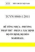 TCVN 8860-1: 2011 Bê tông nhựa - phương pháp thử - phần 1: xác định độ ổn định, độ dẻo marshall